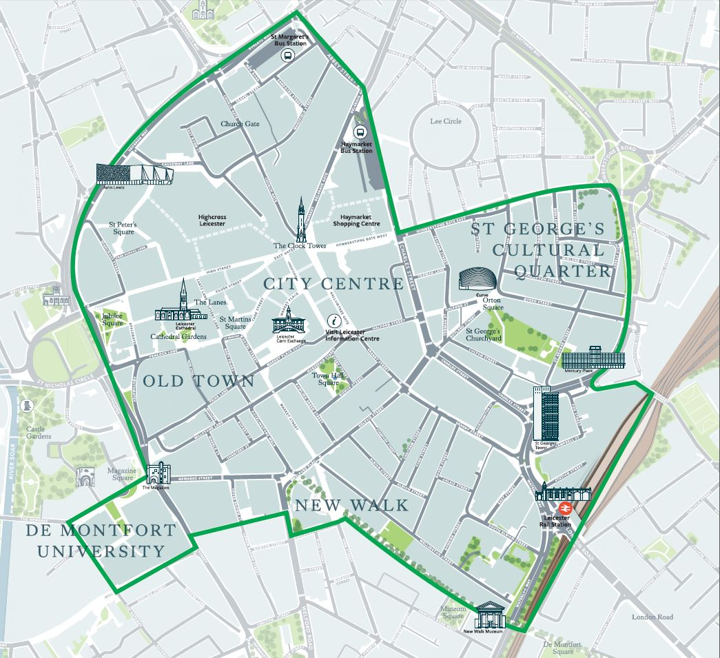 Proposed Leicester BID area